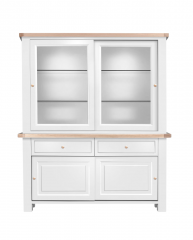 Cotswold Sliding Door Dresser with Sliding Door Glazed Top