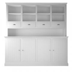 Island Breeze Large Dresser with Open Shelves & 4 Drawers