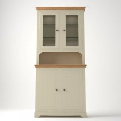 Oxford Compact Dresser with Glazed Doors & Shelves