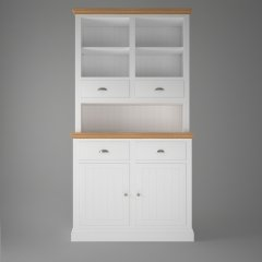 Island Breeze Compact Dresser with Open Shelves & 2 Drawers