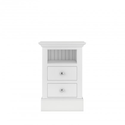 Millbrook Small 2 Drawer Open Shelf Bedside