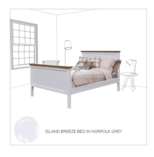 Island breeze bed frame norfolk grey