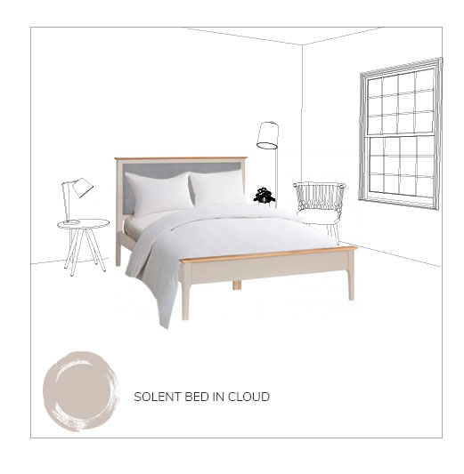 Solent bed in cloud grey