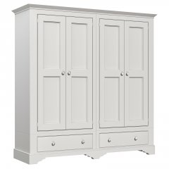 Amberley Narrow 4 Door 2 Drawer Wardrobe