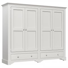 Amberley Wide 4 Door 2 Drawer Wardrobe