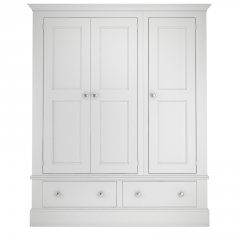 Millbrook Three Door Wardrobe with Two Drawers