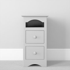 2 Drawer Open Shelf Bedside