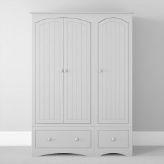 Three Door Two Drawer Wardrobe