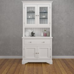 Amberley Two Door One Drawer Half Glazed Dresser