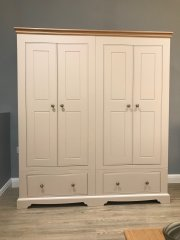 Oxford Narrow 4 Door Wardrobe with drawers