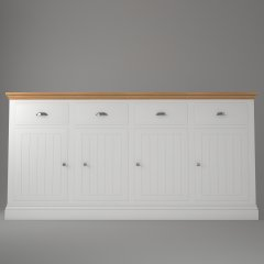 4 Door 4 Drawer Base