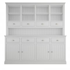 Island Breeze Large Dresser with Open Shelves & Drawers