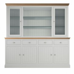 Island Breeze Large Dresser with Full Glazed Doors & Shelves