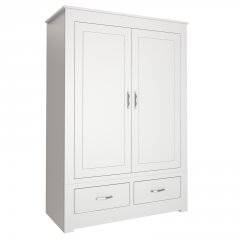 Wide 2 Door Wardrobe with Drawers
