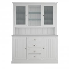 Island Breeze Medium Dresser with Glazed Doors & Shelves