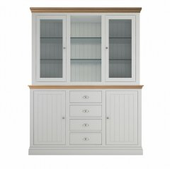 Island Breeze Medium Dresser with Full Glazed Doors & Shelves