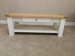 Coffee Table With Drawer - White