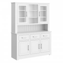 Portland Medium Half Glazed Open Centre Dresser