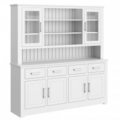 Portland Large Half Glazed Open Centre Dresser