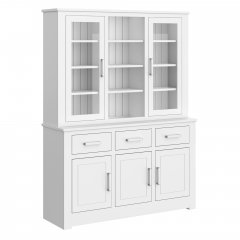 Portland Medium Full Glazed Open Centre Dresser