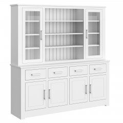 Portland Large Full Glazed Open Centre Dresser
