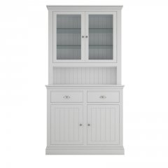 Island Breeze Small Dresser with Glazed Doors & Shelves