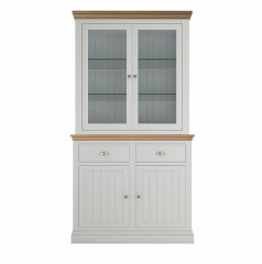 Island Breeze Small Dresser with Full Glazed Doors & Shelves