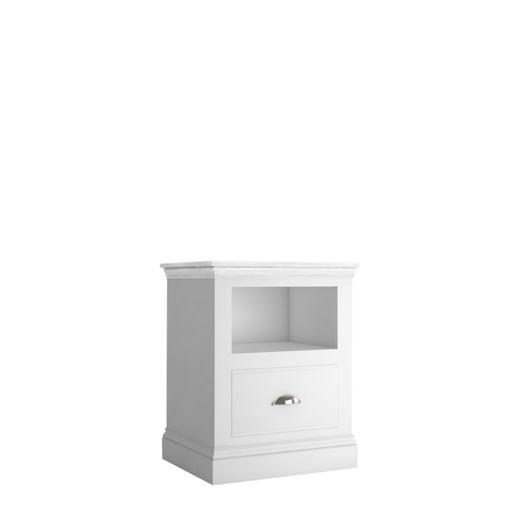 Island Breeze Wide 1 Drawer Open Shelf Bedside
