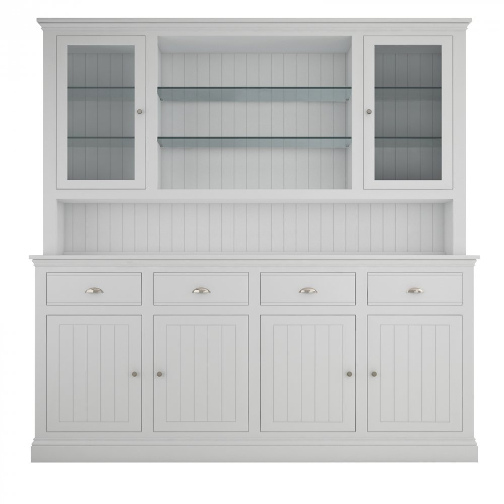 Island Breeze Large Dresser with Glazed Doors & Shelves